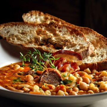 Ulrich's Tuscan Bean Soup with Crusty Focaccia